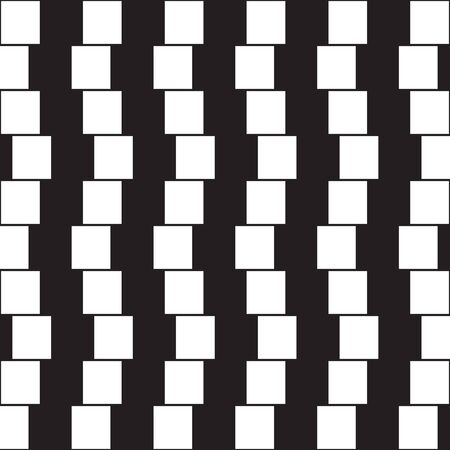 Illustration pour Optical illusion - parallel lines made from black and white pillows - image libre de droit