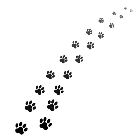 Illustration pour footprints of dog - image libre de droit