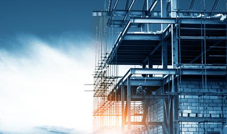 Photo pour Steel frame structure - image libre de droit