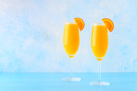 Photo for Yellow cocktail on a bright background, selective focus. - Royalty Free Image