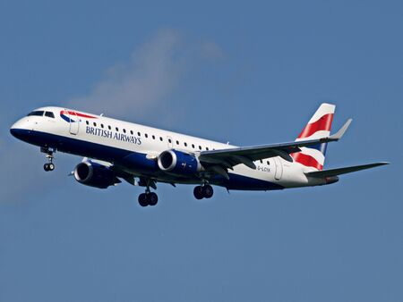 Photo for View of a British Airways passenger plane up in the sky - Royalty Free Image