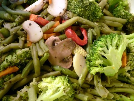 close up photo of steamed mixed vegetables