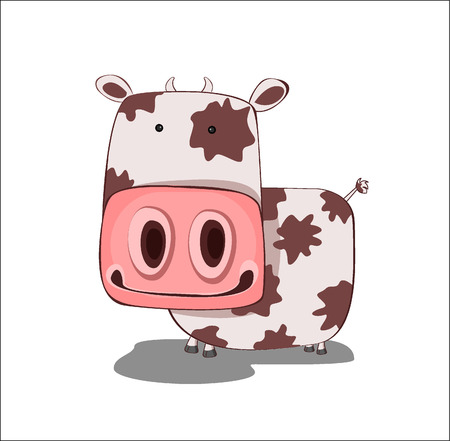 cow - vector illustration