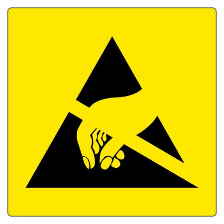 Illustration pour Electrostatic Sensitive Device (ESD) Symbol Sign, Vector Illustration, Isolated On White Background Label .EPS10 - image libre de droit