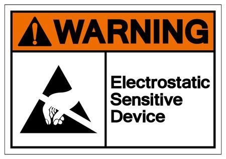 Illustration pour Warning Electrostatic Sensitive Device (ESD) Symbol Sign, Vector Illustration, Isolate On White Background Label. EPS10 - image libre de droit