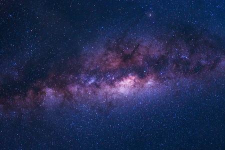 Photo for Colorful space shot of milky way galaxy with stars on a night sky background - Royalty Free Image