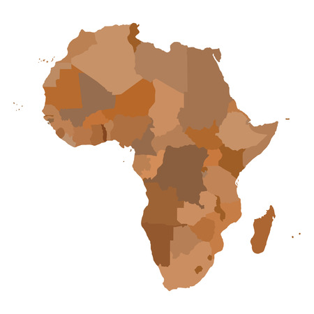 Illustration for AFRICA Map. Cartography collection. Vector illustration. - Royalty Free Image