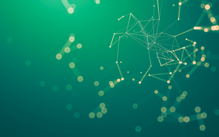 Photo pour Abstract polygonal space low poly dark background with connecting dots and lines. Connection structure. 3d rendering - image libre de droit