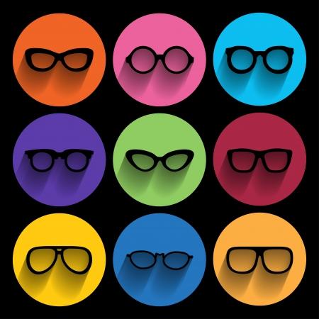 Illustration pour Glasses frame icons. Vector illustration - image libre de droit