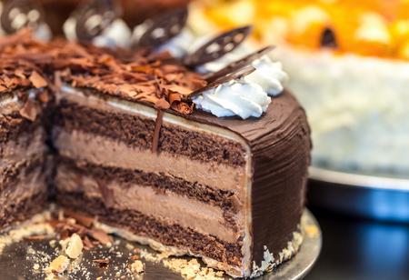 Photo pour chocolate cake - image libre de droit