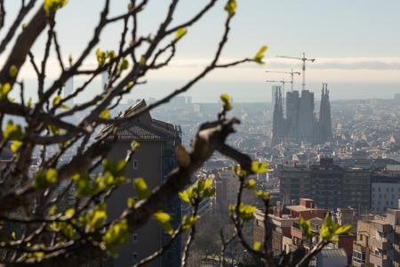 Foto de cityscape barcelona spain from above - Imagen libre de derechos