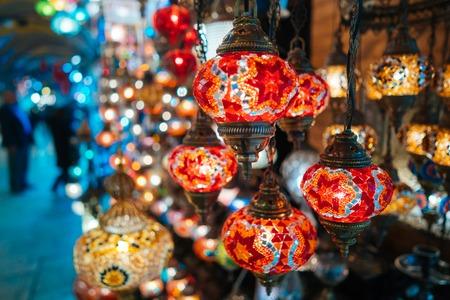 Foto de Beautiful turkish mosaic lamps - Imagen libre de derechos