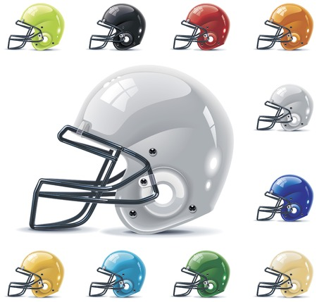Vector American football / gridiron icon set