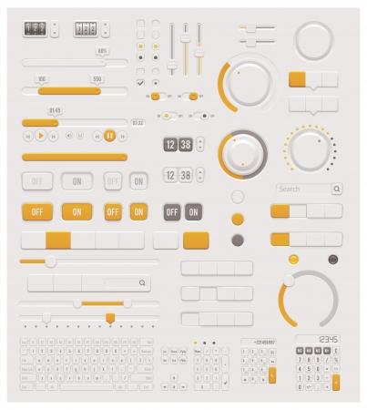 Illustration pour Vector UI dials set - image libre de droit