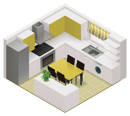 Illustration pour isometric kitchen icon - image libre de droit