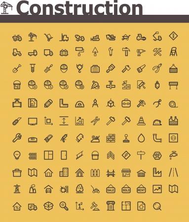 Illustration pour Construction icon set - image libre de droit