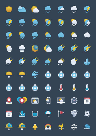 Illustration pour Weather icon set - image libre de droit