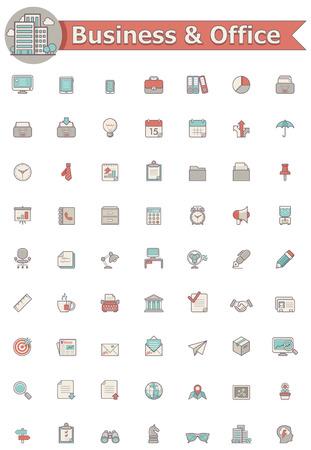 Illustration pour Business and office  icon set - image libre de droit