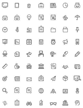 Illustration pour Simple business and office  icon set - image libre de droit
