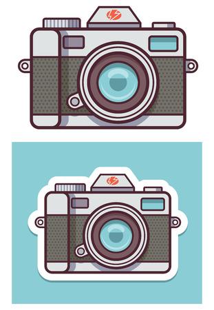 Illustration pour Vector photo camera icon - image libre de droit