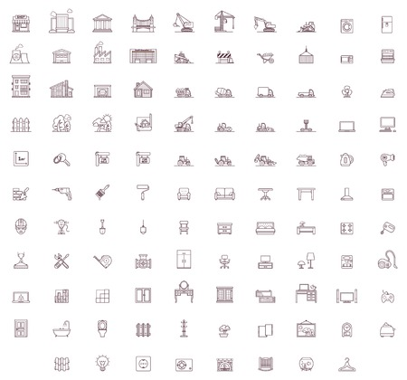 Illustration pour Set of the home related icons - image libre de droit