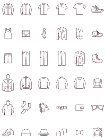 Illustration pour Set of the men clothes - image libre de droit