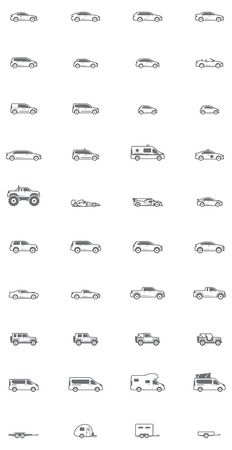 Ilustración de Set of the different types of cars - Imagen libre de derechos