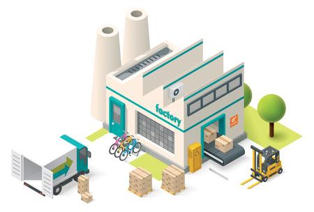 Foto de Vector isometric factory building icon - Imagen libre de derechos