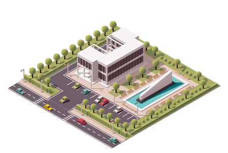 Foto de Isometric icon set representing office building - Imagen libre de derechos