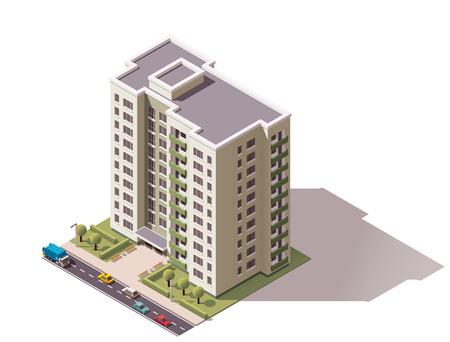 Foto de Isometric icon representing city building - Imagen libre de derechos