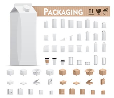 Illustration pour Vector retail packages set - image libre de droit