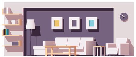 Illustration pour Vector living room - image libre de droit