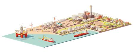 Ilustración de Vector oil extraction and consumption infographic - Imagen libre de derechos