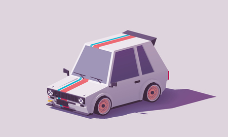 Illustrazione per Vector low poly hot hatch - Immagini Royalty Free