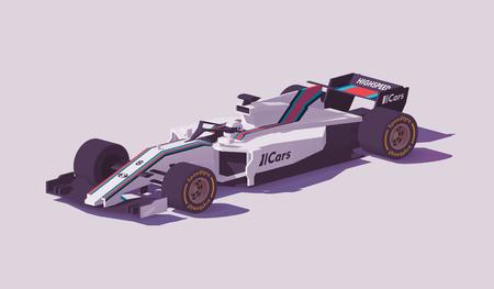 Ilustración de Vector low poly formula racing car - Imagen libre de derechos