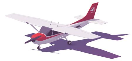 Ilustración de Vector low poly small airplane - Imagen libre de derechos