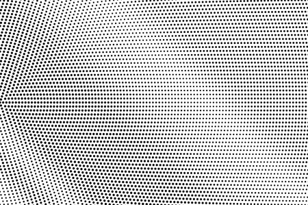 Illustration pour Black on white micro halftone texture. Smooth dotwork gradient. Dotted vector background. Monochrome halftone overlay for vintage cartoon effect. Perforated retro card. Abstract dotwork surface - image libre de droit