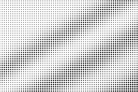 Illustration pour Black on white regular halftone vector. Digital dotted texture. Faded dotwork gradient for vintage effect. Monochrome halftone overlay for cartoon effect. Perforated background. Ink dotwork surface - image libre de droit