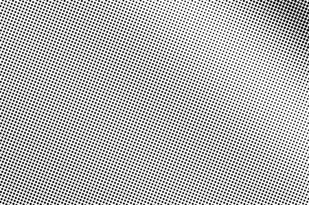 Illustration pour Black and white halftone vector. Diagonal dotted gradient. Smooth dotwork surface. Vintage overlay textured with ink dots. Monochrome halftone background. Perforated texture for retro graphic - image libre de droit