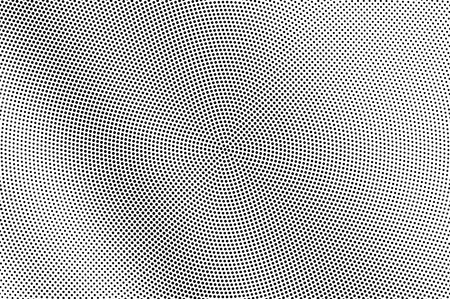 Illustration pour Black and white halftone vector texture. Diagonal dotted gradient. Dark dotwork surface. Vintage effect overlay textured with ink dots. Monochrome halftone background. Perforated retro graphic - image libre de droit