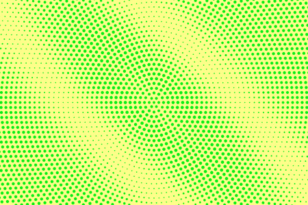 Ilustración de Yellow green halftone vector background. Grungy halftone texture. Diagonal dotwork gradient. Vibrant dotted halftone surface. Retro halftone overlay. Vintage cartoon effect. Perforated texture - Imagen libre de derechos