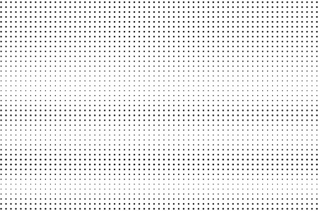 Ilustración de Black and white halftone vector background. Horizontal gradient on regular dotwork texture. Sparse dotted halftone. Retro halftone overlay. Vintage distressed effect. Monochrome perforated texture - Imagen libre de derechos