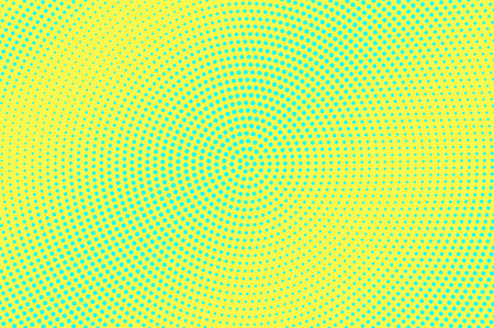 Ilustración de Yellow green halftone vector background. Smooth halftone texture. Diagonal dotwork gradient. Vibrant dotted halftone surface. Retro halftone overlay. Vintage cartoon effect. Perforated texture - Imagen libre de derechos