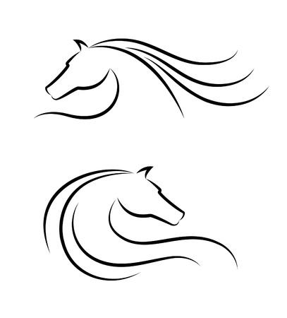 Illustration pour Horse head emblem - image libre de droit