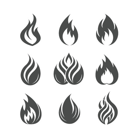 Illustration for Fire icons set - Royalty Free Image