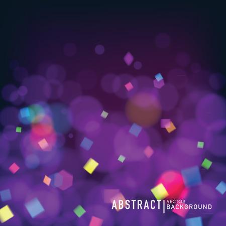 Ilustración de Abstract blurry background with bokeh effect and confetti. Wallpaper for celebrate or party invitation design.  - Imagen libre de derechos