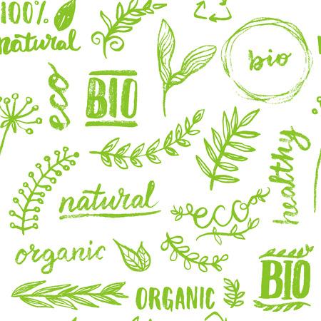 Ilustración de Seamless organic pattern background - Imagen libre de derechos
