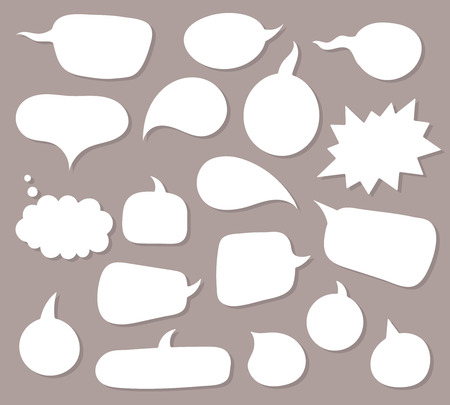 Ilustración de Vector speach bubbles background set. - Imagen libre de derechos