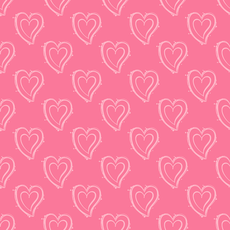 Illustration for seamless pattern with hearts. Love, wedding, Valentines day design. - Royalty Free Image