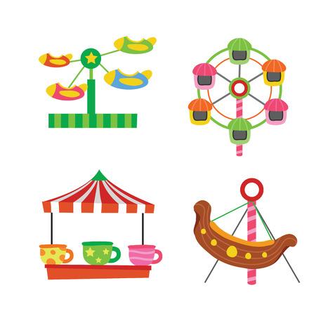 Illustration pour amusement vector collection design, amusement vector set, funfair vector design - image libre de droit